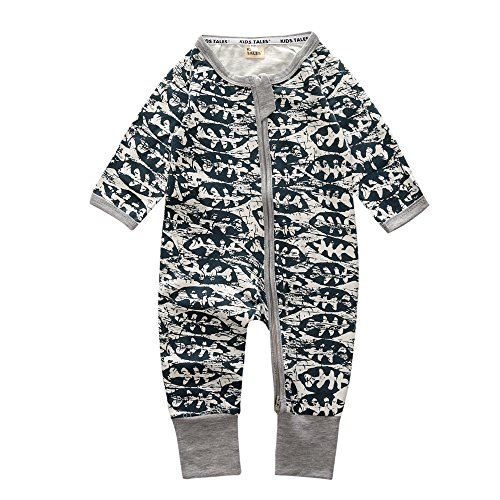 Kids Tales Toddler Infant Baby Boys 1 Pc Cotton Footed Pajamas Romper