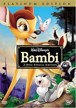 Bambi [platinum edition]: amazon.it: animation [walt disney]: film e tv