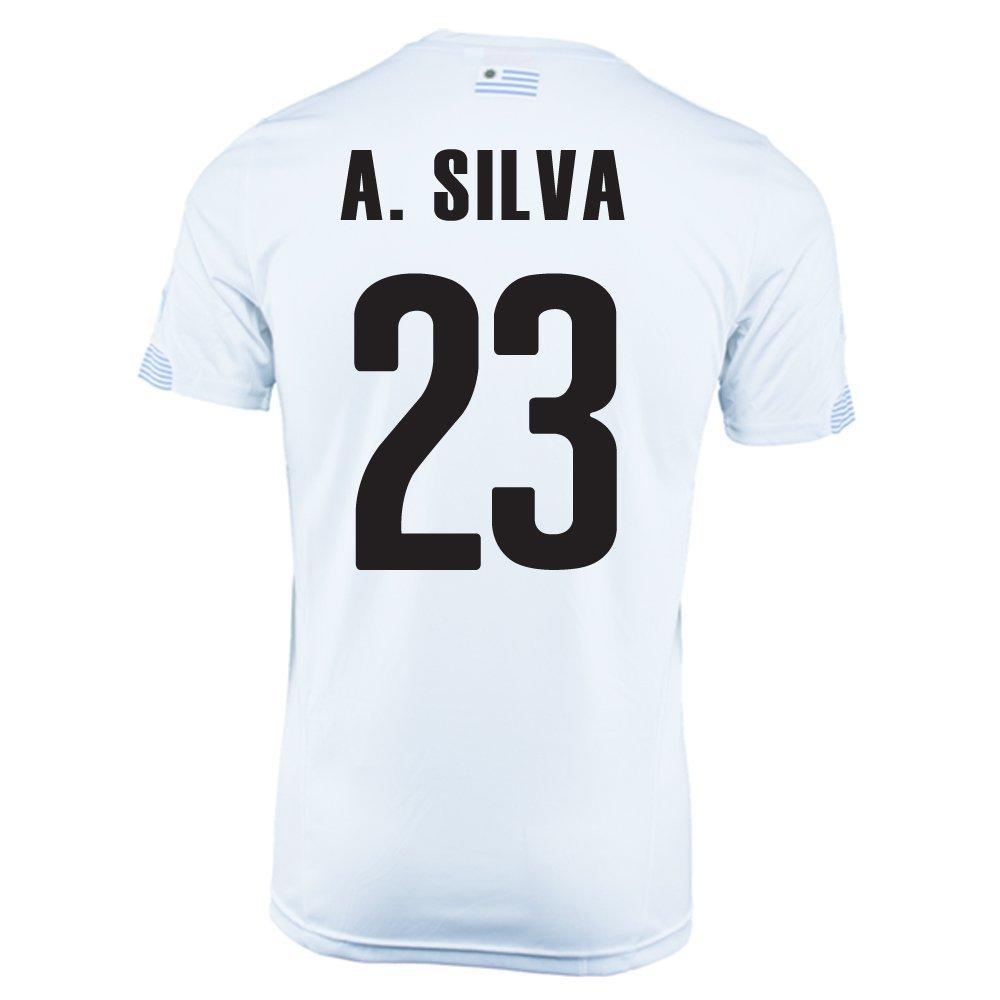 Puma A. Silva #23 Uruguay Away Jersey World Cup 2014/サッカーユニフォーム ウルグアイ アウェイ用 ワールドカップ2014 背番号23 A.シルバ B00LNIU5EO M