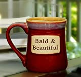 Tumbleweed Pottery 'Bald & Beautiful' Ceramic 20 ounce Coffee Mug,Assorted Color