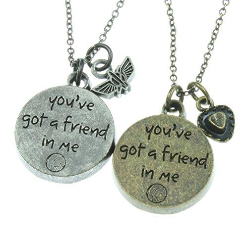 Disney Toy Story Best Friends Necklace Set