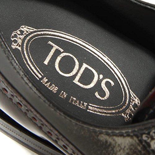 1888G scarpa bordeaux grigia TODS DERBY BUCATURE uomo shoes men grigio/bordeaux