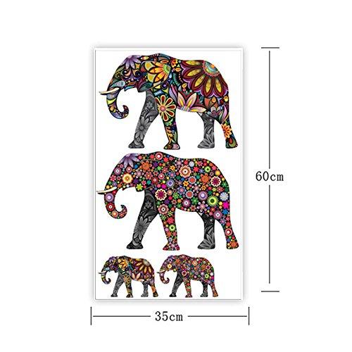 Animals Wall Sticker Elephant Family Wall Sticker Vinyl Bedroom Flower Decal Bedroom Home Decor