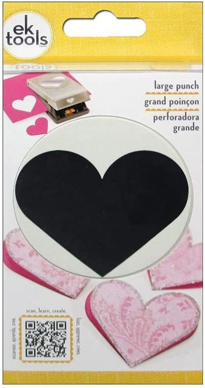 Free Ship New Large Heart EK tools Punch for Arts and Craft