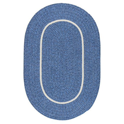 Silhouette Rug, 3 by 5-Feet, Blue Ice