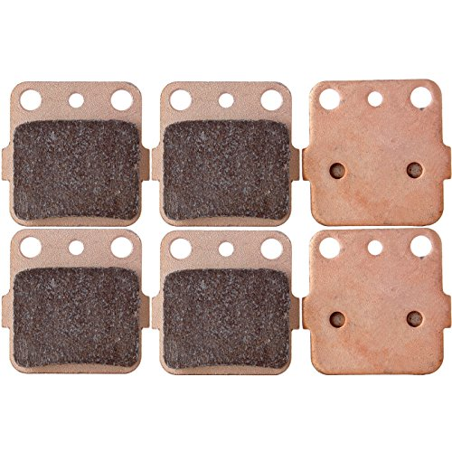 ECCPP FA84 Brake Pads Front and Rear Sintered Replacement Brake Pads Kits Fit for 1983-2012 Honda,1987-2012 Kawasaki,1987-1993 Suzuki,1987-2012 Yamaha