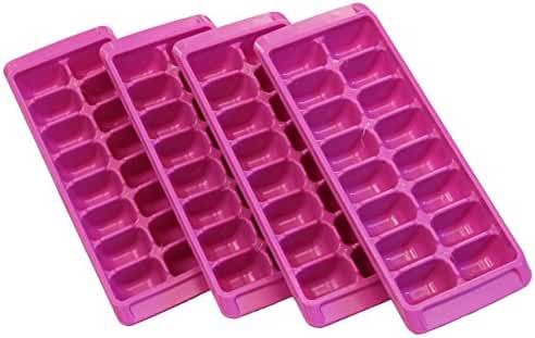 Rubbermaid Easy Release Ice Cube Tray - Pack of 4, Color Passion Fruit