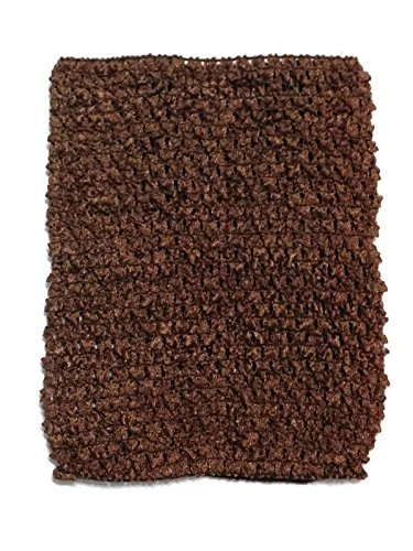 Rush Dance Crochet Tutu Fairy Princess Pettiskirt Halter Top (One Size, Brown)