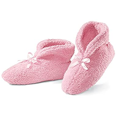 Ultra Plush Chenille Slippers Pink Medium