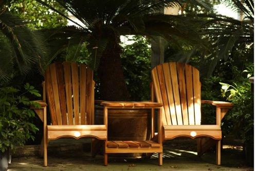 Bear Chair BC900C Cedar Tete-a-tete Kit - Sanded Loveseat