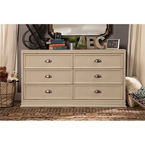 Franklin & Ben Mason Double Wide Dresser, Distressed White