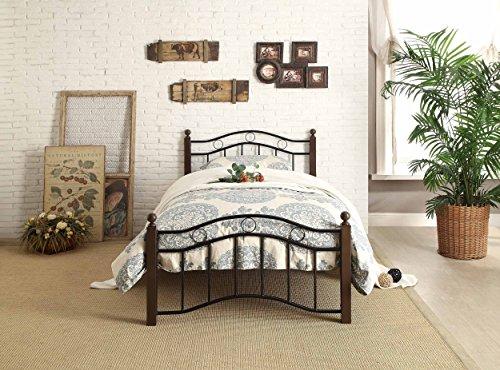 Homelegance Averny Metal Platform Bed, Twin, Black