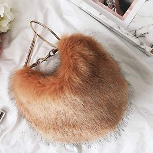 tracolla New Winter Borsette Borsa a capellicoloregrigioArancione per Hand Uzanesx Ladies 2IWEebDH9Y