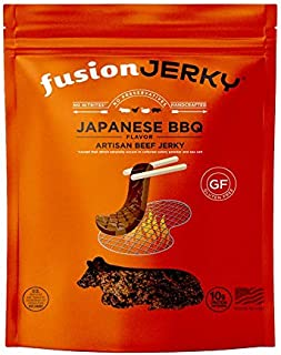 product image for Fusion Jerky Beef Jerky Gluten Free, Prime Cuts, No Nitrates (Japanese BBQ, 2.75oz)