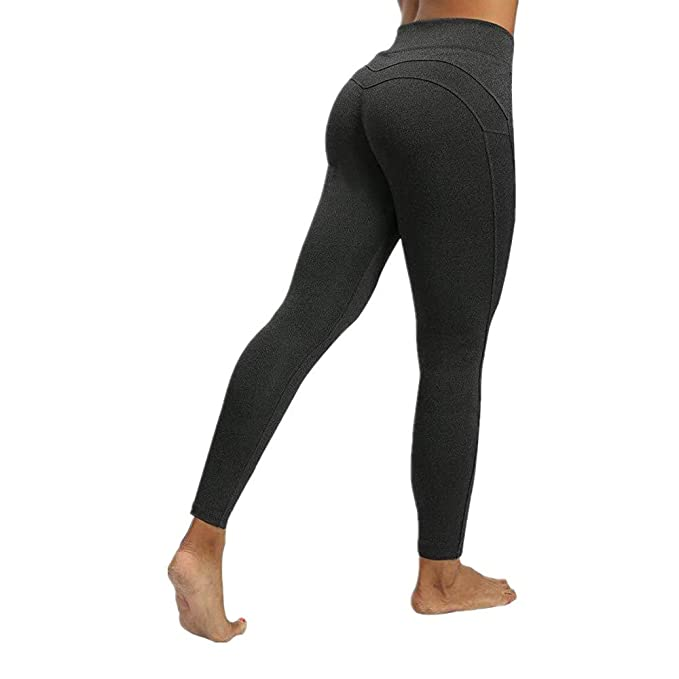 Discount BoutiqueHigh Waist Yoga Pants Leggings Solid Color ...