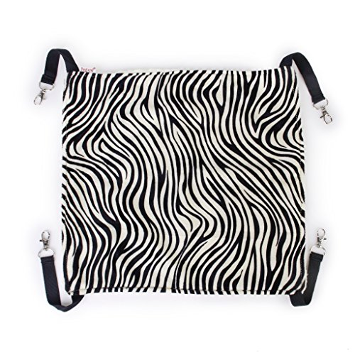 Zebra Kitty (Pet Cat Kitty Hammock Bed Animal Hanging Cage (Zebra Stripes, S))