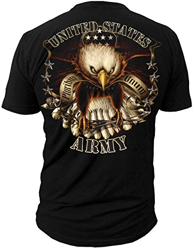 Black Ink Men's U.S. Army Eagle T-Shirt X-Large