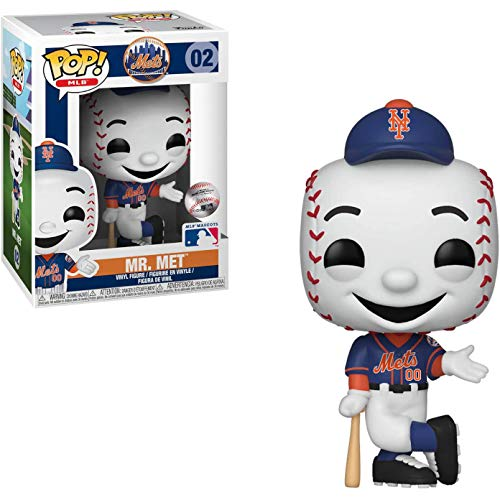 Mr. Met: Funko POP! Vinyl Figure & 1 POP! Compatible PET Plastic Graphical Protector Bundle [#002 / 38724 - B] ()