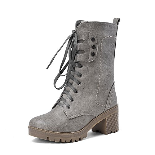 1TO9 - Zapatilla alta mujer gris