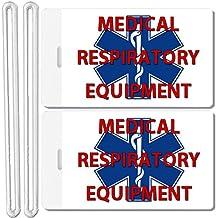 2x Medical Respiratory Equipment Identification Luggage Tags TSA Carry-On CPAP BiPAP Sleep APNEA POC