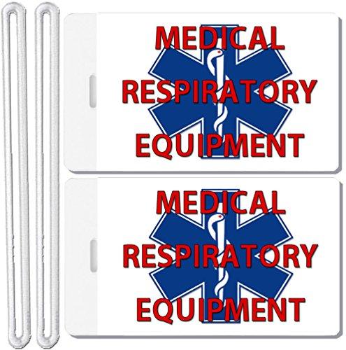 2x Medical Respiratory Equipment Identification Luggage Tags TSA Carry-On CPAP BiPAP Sleep APNEA POC (Cpap Medical Equipment Carry On Luggage Tag)