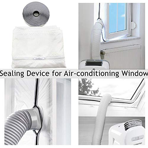 m·kvfa Window Seal for Mobile Air Conditioners Air Conditioners Dryers and Exhaust Sealing AC with Zip and Adhesive Fastener Best Way to Seal Tilted Window with Maximum - Vinyl Pane Series Double