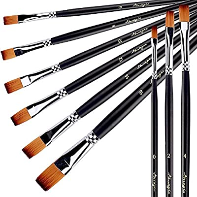 Paint Brush Set for Acrylic Oil Watercolor by Amagic 9 Pcs Artist Face and Body Professional Painting Kits with Synthetic Nylon Tips