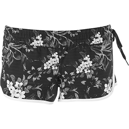 Hurley Phantom Block Party BR Black White Grey Floral Junior's Boardshorts (Small)