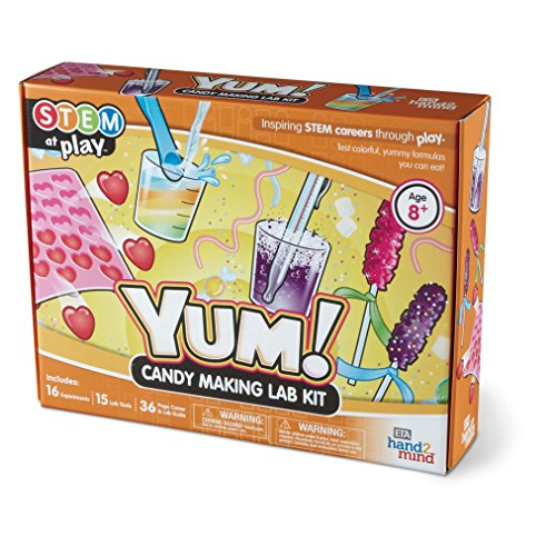 Yum! Candy Making Science Kit, 16 Stem Experiments & Activities Kids, Make Your Own Jelly Candy, Gummy Worms, Crystal Rock Candy | Fun Gift Girls & Boys | Educational Toy