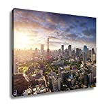 Ashley Canvas Amazing View To Tokyo City Center At Sunset, Wall Art Home Decor, Ready to Hang, Color, 16x20, AG5909302