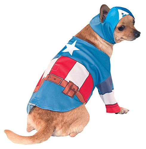 Rubies Costume Company Marvel Classic/Marvel Universe Captain America Pet Costume, (Family Costumes Theme)