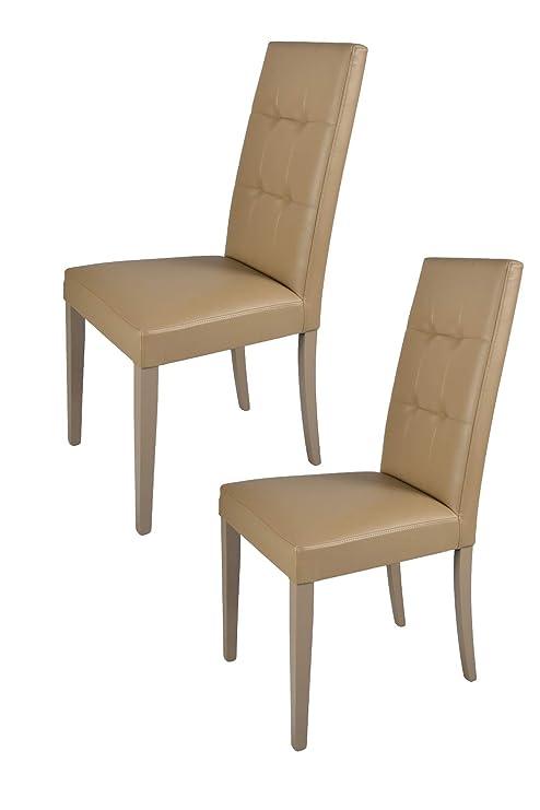 Set 2 sedie per cucina e sala da pranzo, eleganti e moderne, con ...