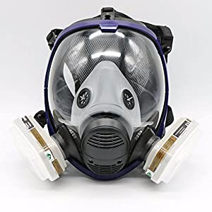 7 pièce costume peinture pulvérisation peinture bois pour masque 6800 masque complet masque respiratoire