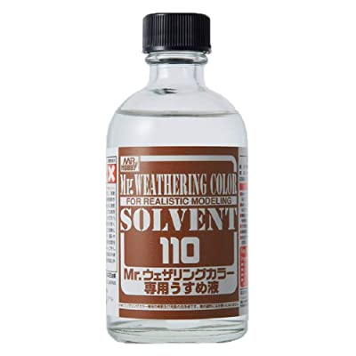 Mr. Hobby Weatering Color Solvent 110ml For Realistic Modeling: Toys & Games