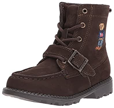 POLO RALPH LAUREN Kids Baby Ranger HI II Fashion Boot, Chocolate Nubuck, 5 Medium US Toddler