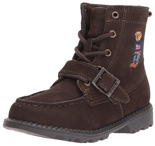 Polo Ralph Lauren Kids Baby Ranger HI II Fashion Boot, Chocolate Nubuck, 7 Medium US Toddler