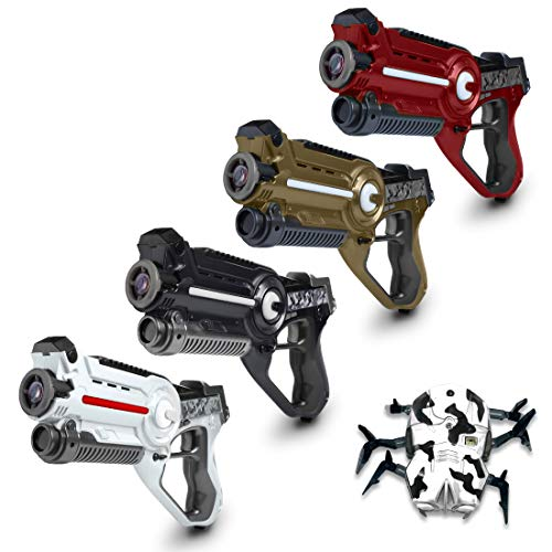 "USA Toyz Kids Laser Tag Guns Laser Tag Sets Battle Box"" 4 Pk Lazer Tag Gun Set with Multiplayer Laser Tag Guns for Kids + Spider Bot Laser Tag Game -"