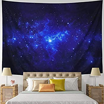 Leofanger Tapestry Galaxy Tapestry Universe Milky Way Wall Tapestry Night Starry Sky Wall Hanging Tapestry Trippy Space Celestial Tapestry for Bedroom Living Room Dorm(59.1
