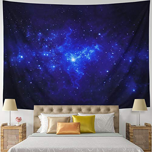Leofanger Tapestry Galaxy Tapestry Universe Milky Way Wall Tapestry Night Starry Sky Wall Hanging Tapestry Trippy Space Celestial Tapestry for Bedroom Living Room Dorm(XLarge-92.5