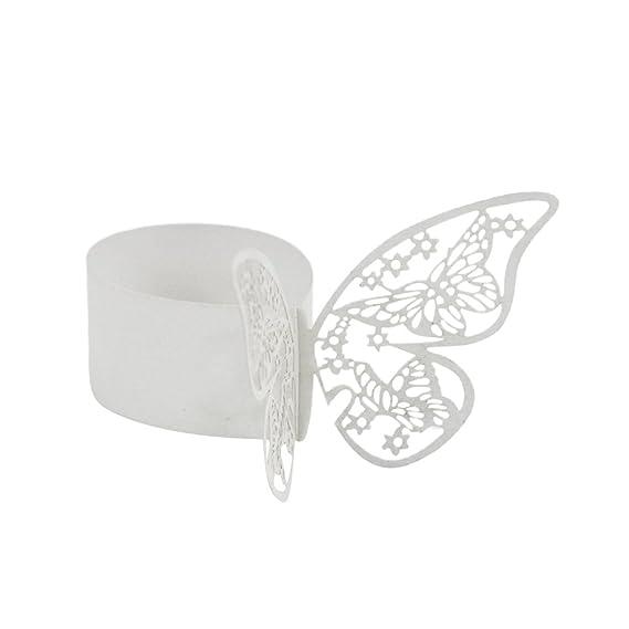 50x Schmetterling Serviettenring Serviettenhalter Buckles Hochzeit Dekor
