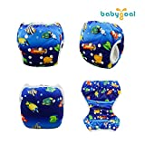 babygoal Reusable Swim Diapers, One Size Adjustable
