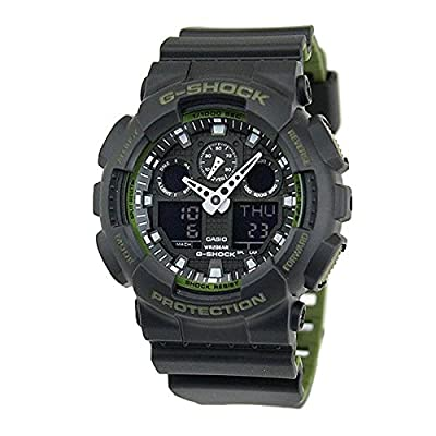 Casio GA-100L-1A G-Shock GA-100 Military Series Watch (Black / One Size) from Casio