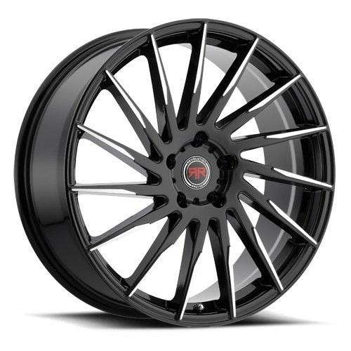 Racing Revolution - Revolution Racing 15 18x8 Black and Machined Wheel / 5-114.3 mm Bolt Pattern / +40 mm Offset / 73.1 mm Hub Bore