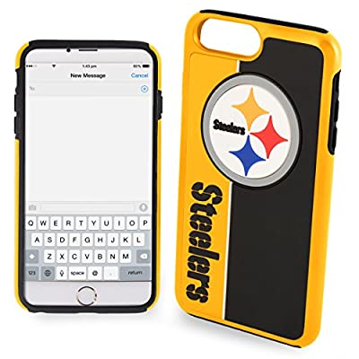 Forever Collectibles iPhone 8+/7+ Dual Hybrid Bold Case - NFL Pittsburgh Steelers