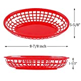 Kingrol 50 Pack Fast Food Baskets, Plastic Oval