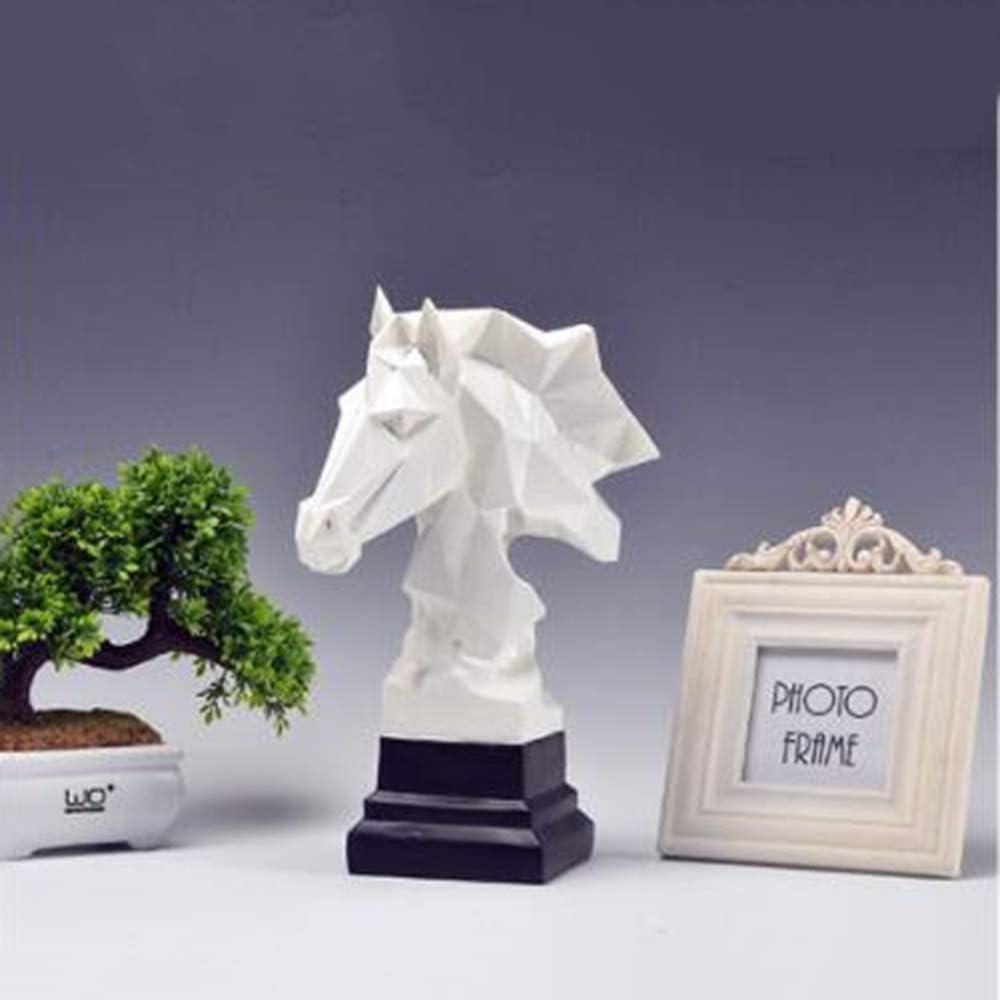 Nordique Minimaliste G/éom/étrique Imitation Origami T/ête De Cheval MaisonArtisanat /à la Maison D/écoratif Ornements Bureau Club D/écoration de pi/èce mod/èle,S