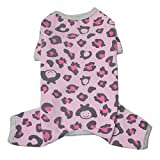 TONY HOBY Cotton Dog Pajamas Leopard Dog Jumpsuits Pet Clothes for Small Medium Dogs Review