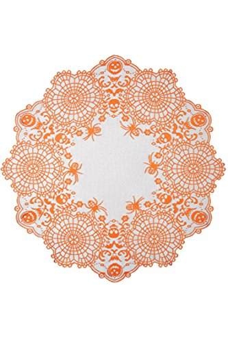 Heritage Lace Halloween Frightful Table Topper ,36
