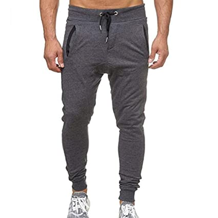Teresamoon Fashion Mens Sport Jogging Fitness Pant Casual Loose Sweatpants Drawstring Pant