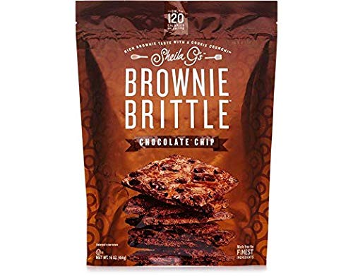 New Brownie Brittle, Chocolate Chip, 16 Oz Bag, Pack of 2, The Unbelievably Rich and Delicious Chocolate Brownie Snack with A Cookie Crunch (Packaging May Vary) ... (2) by Brownie Brittle